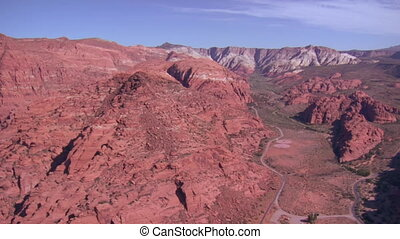 aerial shot of Snow Canyon State Park St. George Utah