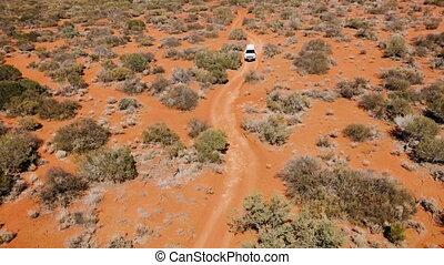 Aerial shot of the yellow desert