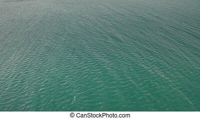 Aerial shot of turquoise Mediterranean Sea surface - Aerial...