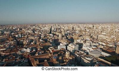 Aerial shot of Valencia, Spain