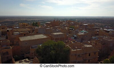 Jaisalmer, Rajasthan, India. Aerial shot. - Aerial...
