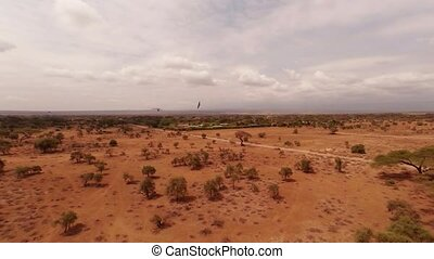 Aerial Shots Over The Savanna Of Africa.