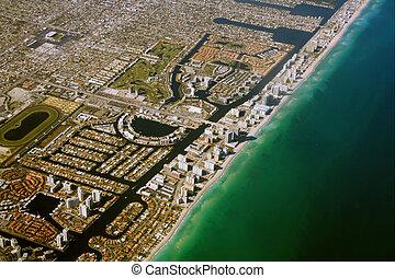 Aerial South Miami Beach