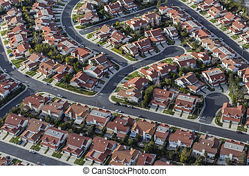 Aerial Southern California Suburban Homes