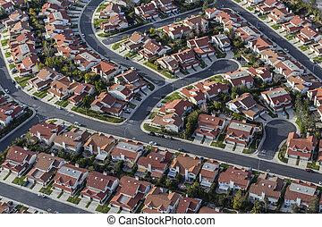 Aerial Southern California Suburban Homes