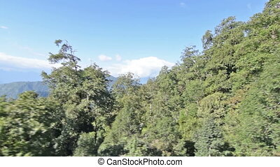 Aerial stock footage of Himalayan mountains