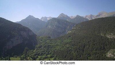 Aerial, Stunning Landscapes Around Serveto Mountain Village,...