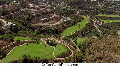 Aerial. Stunning Panorama from Flying Drone - Aerial....