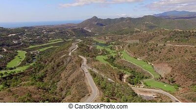 Aerial. Stunning Panorama from Flying Drone of Mountains in...