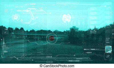 Aerial surveillance monitor