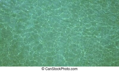 Aerial survey from a drone over the surface of the sea