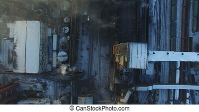 Aerial survey metallurgical plant - Flying over the...