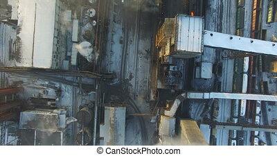 Aerial survey metallurgical plant