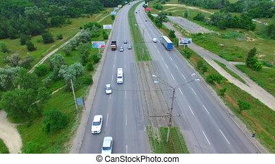 Aerial survey of a road bridge