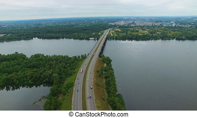 Aerial survey of a road bridge