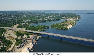 Aerial survey of the automobile bridge - Aerial survey of...