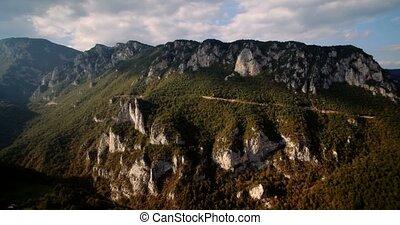 Aerial, Tara River Canyon, Montenegro