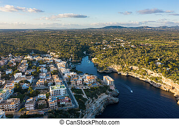 Aerial: The bay of Cala Figuera