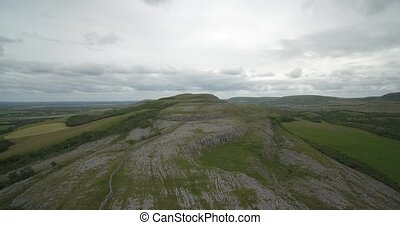Aerial, The Burren, County Clare, Ireland - Native Version -...