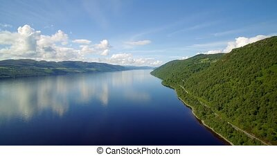 Aerial, The Mighty Loch Ness, Scotland - Graded Version -...