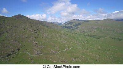 Aerial, The Molls Gap, County Kerry, Ireland - Native...