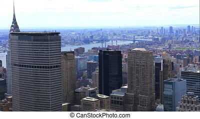 Aerial timelapse of Manhattan in New York