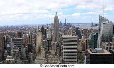 Aerial timelapse of midtown Manhattan, New York area
