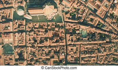 Aerial top down view of Cathedral or Cattedrale di Santa...