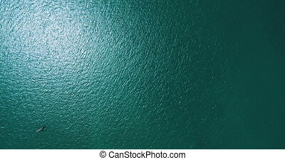 Aerial top view of beautiful water sea surface