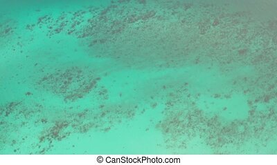 Aerial top view of the beautiful lagoon sea surface