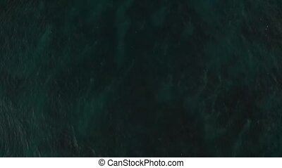 Aerial top view of the sea ocean water surface