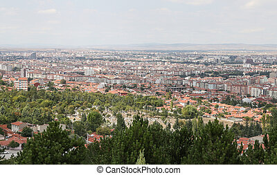 Eskisehir City in Turkey - Aerial Townscape of Eskisehir...
