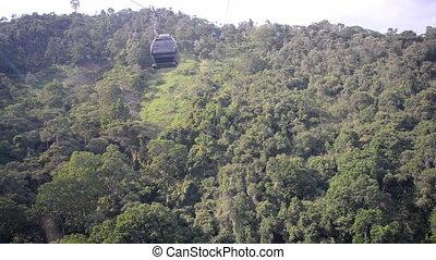 Aerial Tram in Floridablanca - Aerial tram in a park near...