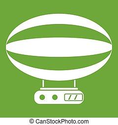 Aerial transportation icon green