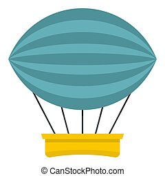 Aerial transportation icon isolated