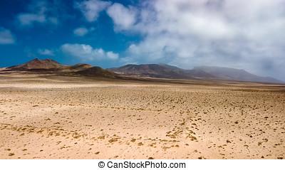 aerial udsigt, i, ørken