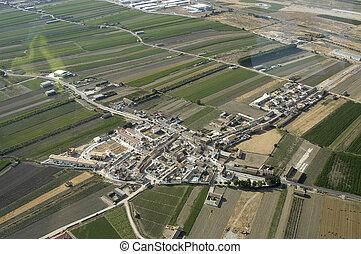 aerial udsigt, i, en, landsby, ind, granada