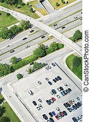 aerial udsigt, i, hovedkanalen