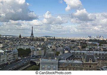 aerial udsigt, i, paris