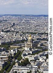 aerial udsigt, i, paris, frankrig, af, montparnasse