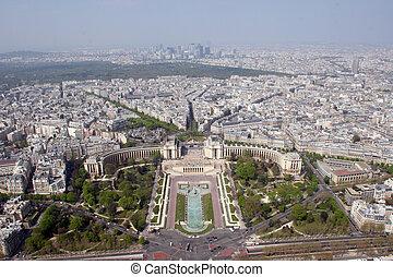 aerial udsigt, i, paris, frankrig