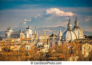 aerial udsigt, i, rome