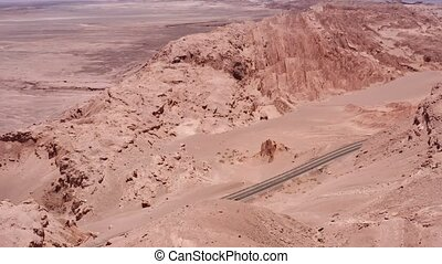 Aerial, Valle De La Luna, Atacama Desert, Chile - neutral...