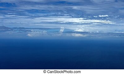 Aerial Video of Cloud Strata over the Ocean - Aerial video...