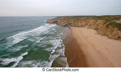 Aerial video shooting. Beautiful scenery of the beach for ...
