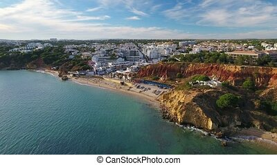 Aerial. Videography of dron, beaches Olhos de Agua....