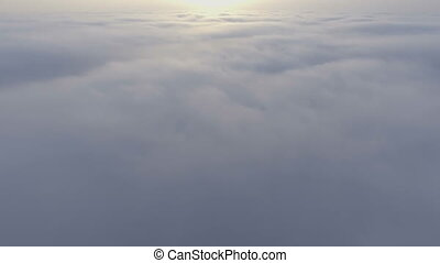 aerial view above the clouds.