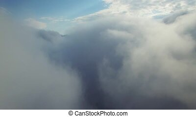 aerial view above the clouds