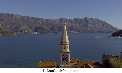 Aerial View - Adriatic Sea Near Old Town Budva - Beautiful...
