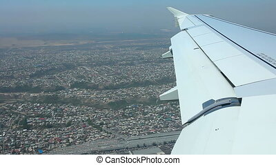 Aerial view. - Aerial view from reduced airplane.